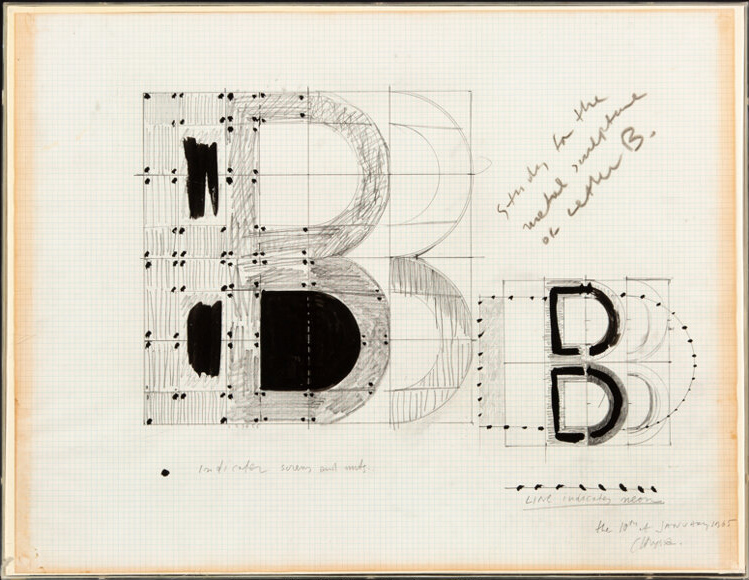 Study for the Metal Sculpture of the Letter B