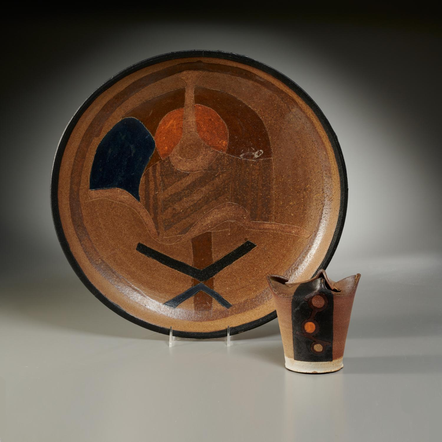 Untitled (Stoneware charger)