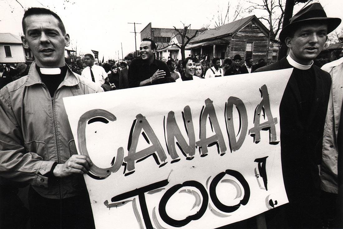 Civil Rights Canadian Priests during March, Selma