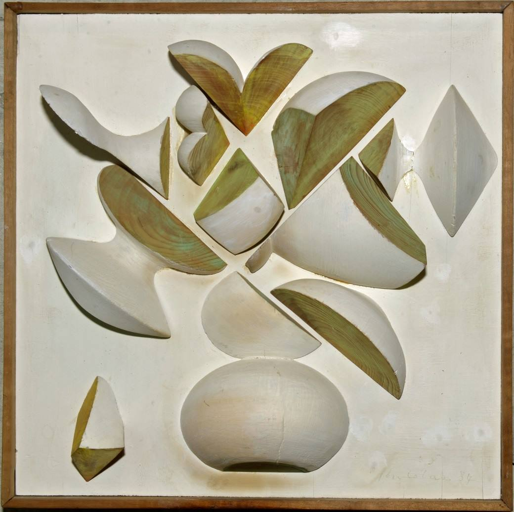 Bouquet vert tendre sur blanc mat