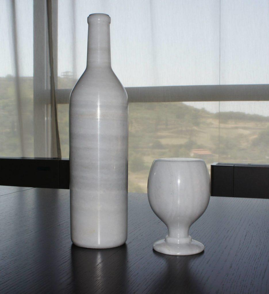 Verre et bouteille Mabre